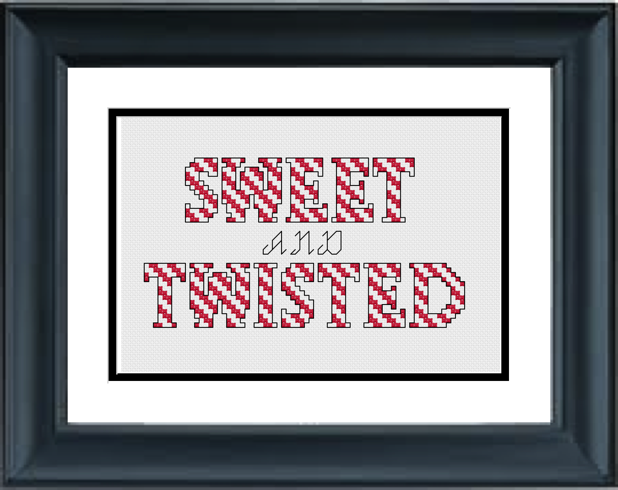Sweet And Twisted Christmas Cross Stitch Pattern Pdf Cross